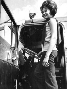 1970s woman truck driver: Suppose U Drive
