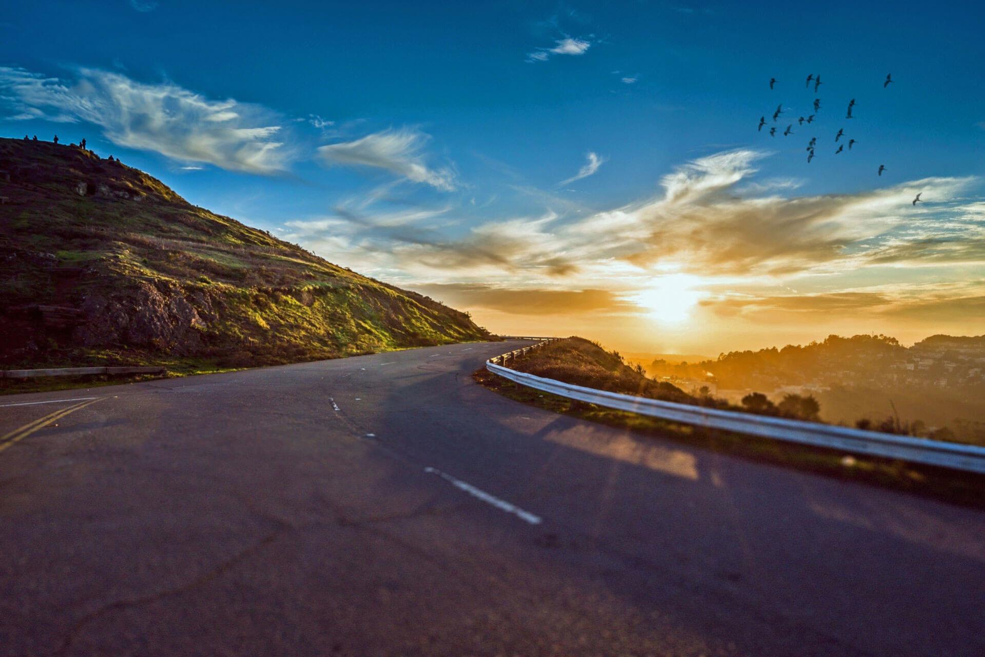Mountain Road Sunset