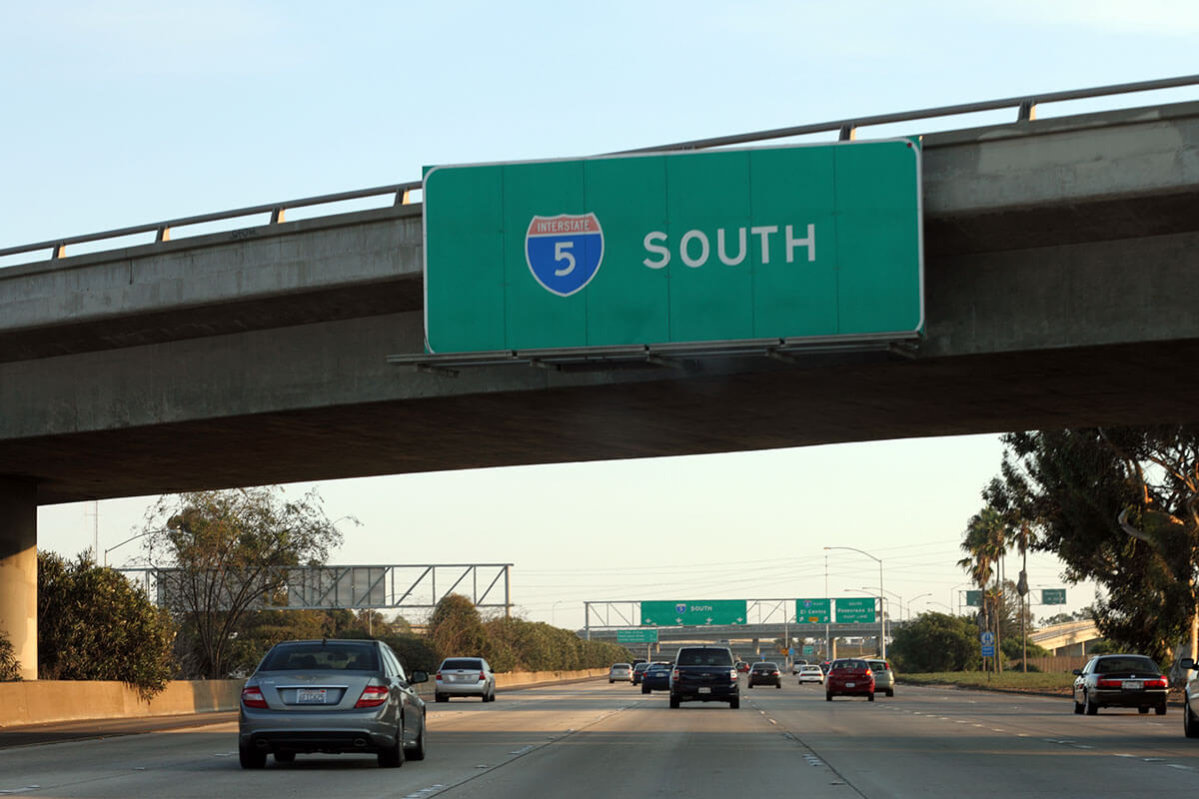 I-5 South Sign San Diego: SupposeUDrive