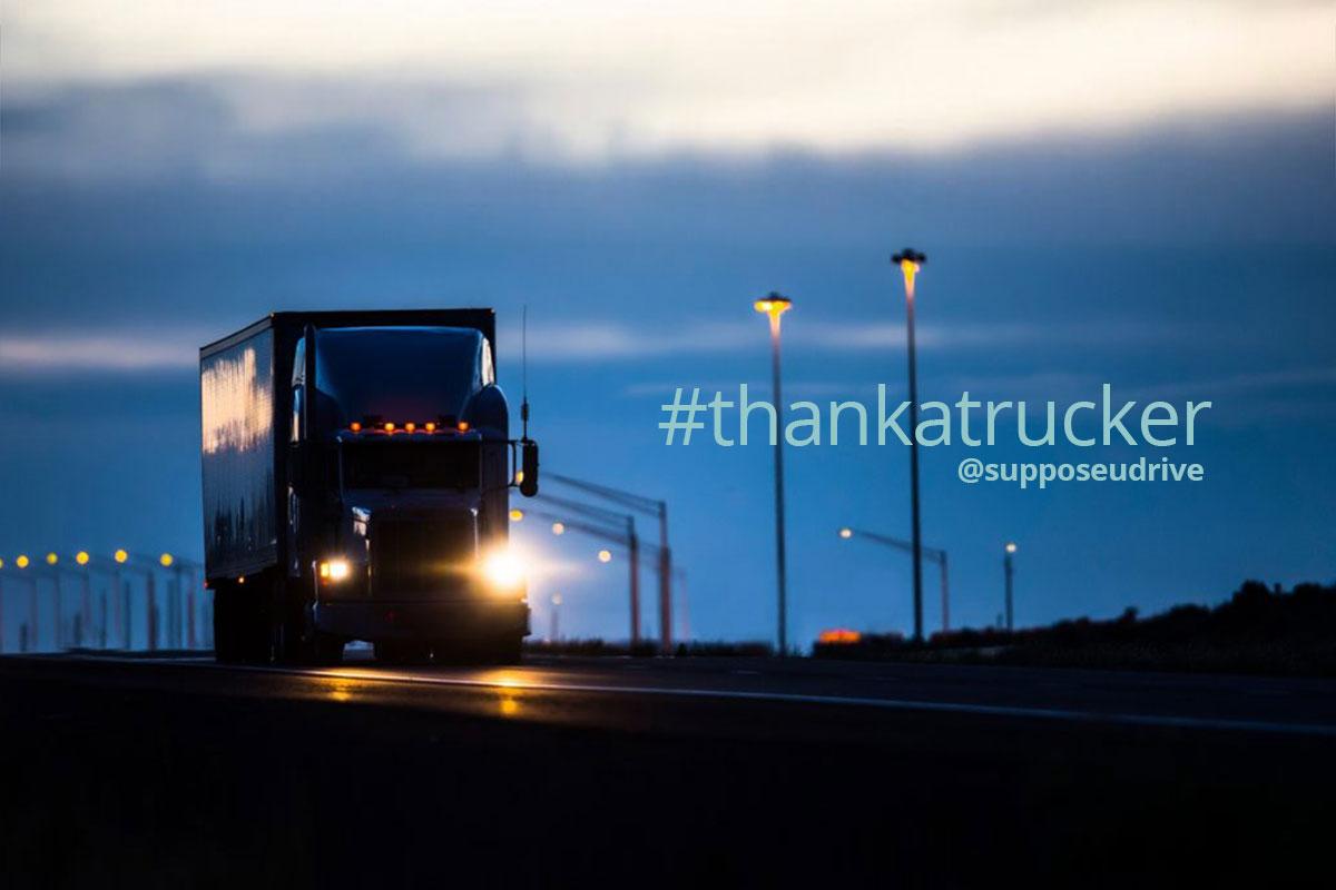 #thankatrucker