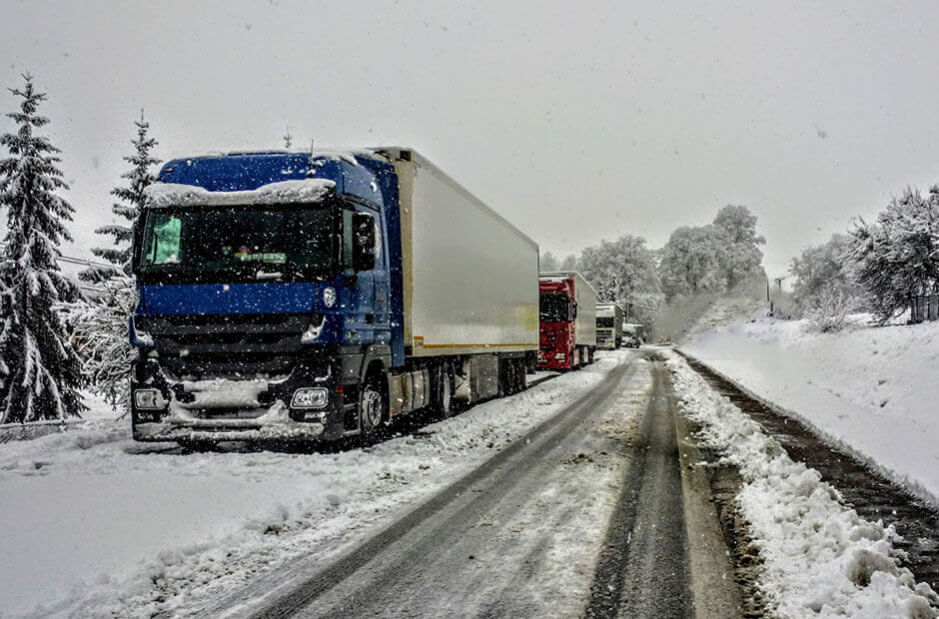 Driving Trucks in the Snow